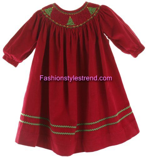 Infant Smocked Christmas Dresses