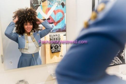 Melissa Burgos Curly Hair Style