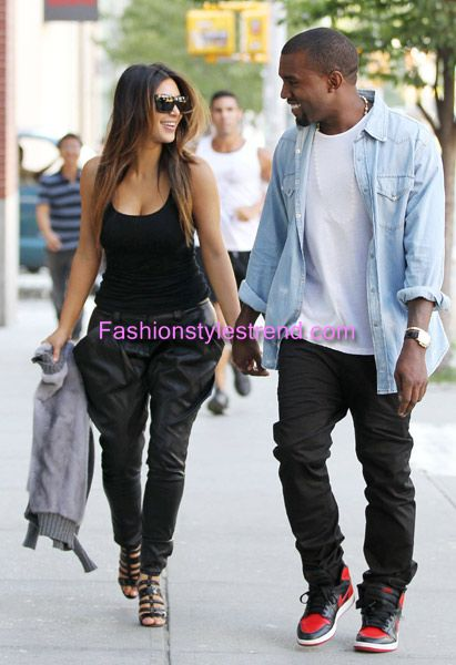 Celebrities Kim Kardashian & Kanye West