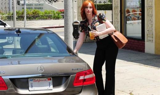 Christina Hendricks Luxury Car Mercedes-Benz E350 Bluetec Wallpapers
