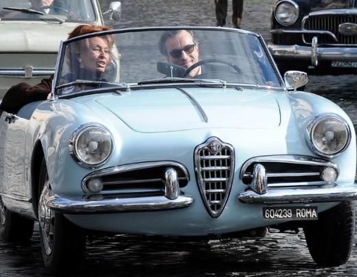 Daniel Day Lewis with Alfa Romeo Giulietta Spider Car Pictures
