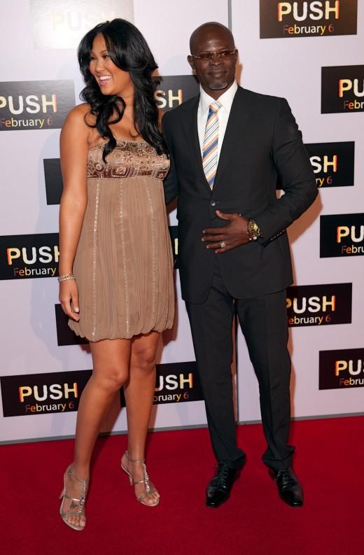 Djimon Hounsou & Kimora Lee Simmons in Ferrari California Photos