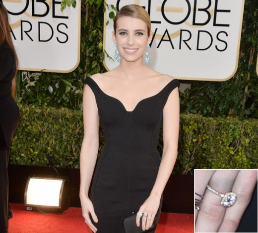 Emma Roberts Engagement Rings