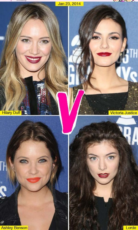 Victoria Justice Ashley Benson & More Bold Lip Beauty Battle