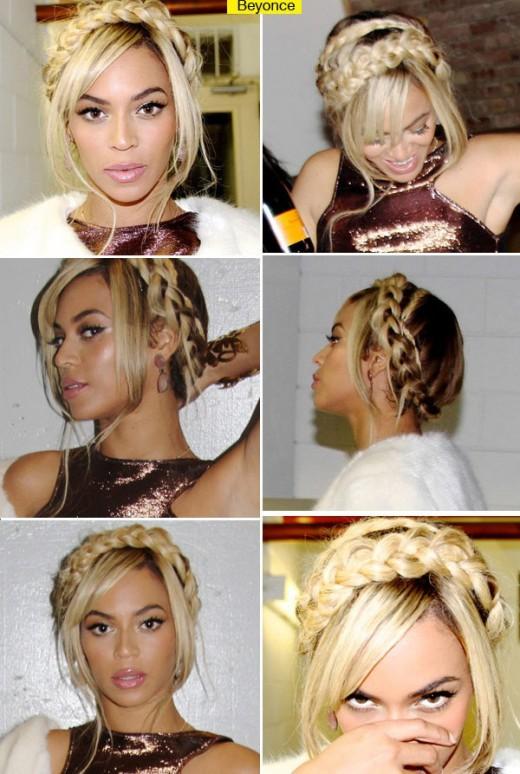 Beyonce's Blonde Braids Get Her Swiss Miss Look