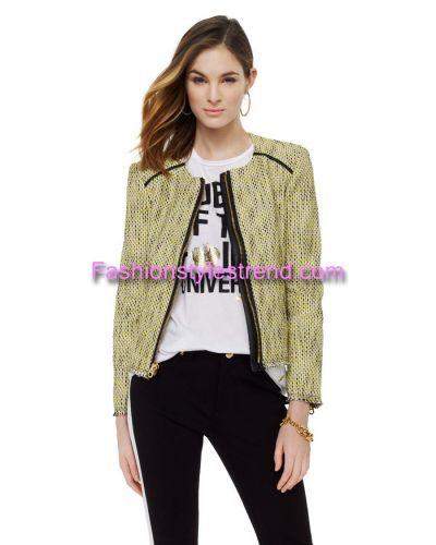 Tweed Jacket Yellow Combo