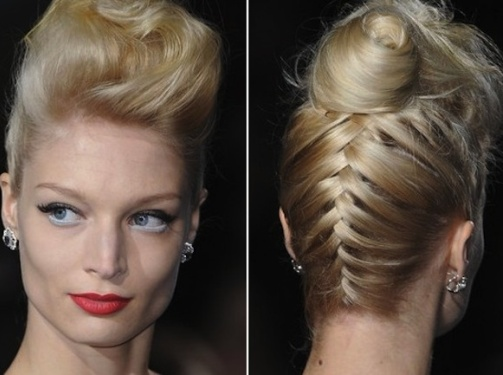 Protect Hair from Blow Dryer Damage & DIY Reverse French braid bun