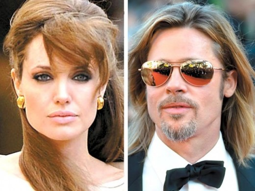 Brad Pitt & Angelina Jolie wedding pictures