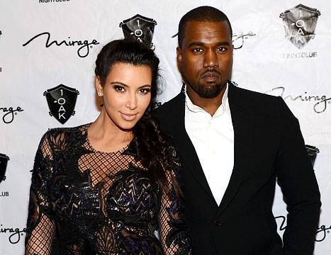 Kim Kardashian & Kanye West Hot Pics