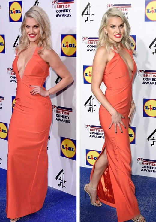 Ashley Roberts Hot Dress at British Comedy Awards 2014