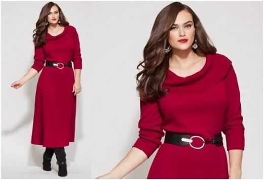 Plus Size Women Christmas Party Dresses Collection For 2014 2015