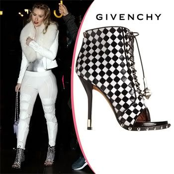 Iggy Azalea Wears Dress Elements in Givenchy Booties
