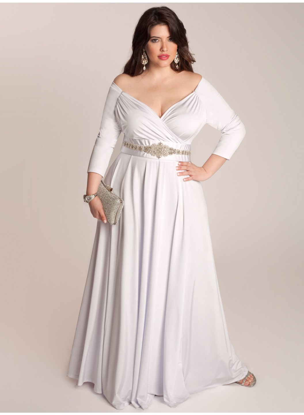 Plus size women christmas party dresses collection for for Plus size wedding dresses online usa
