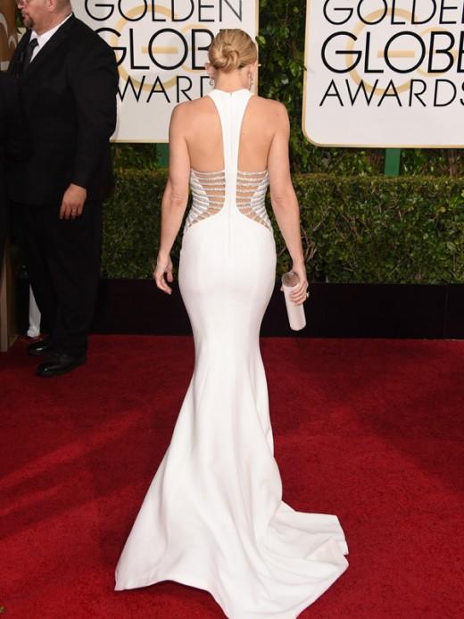 kate hudson golden globes 2015 white dress hot photo