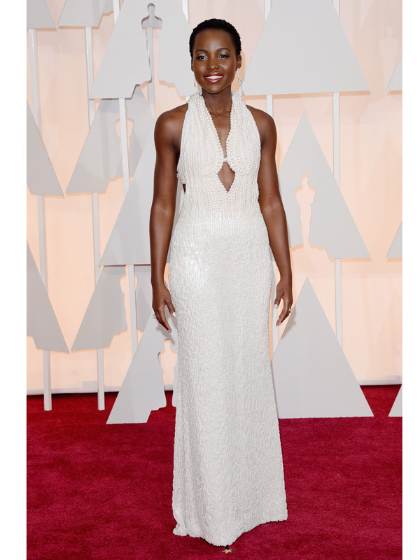 lupita nyongo oscars 2015 academy awards red carpet pictures