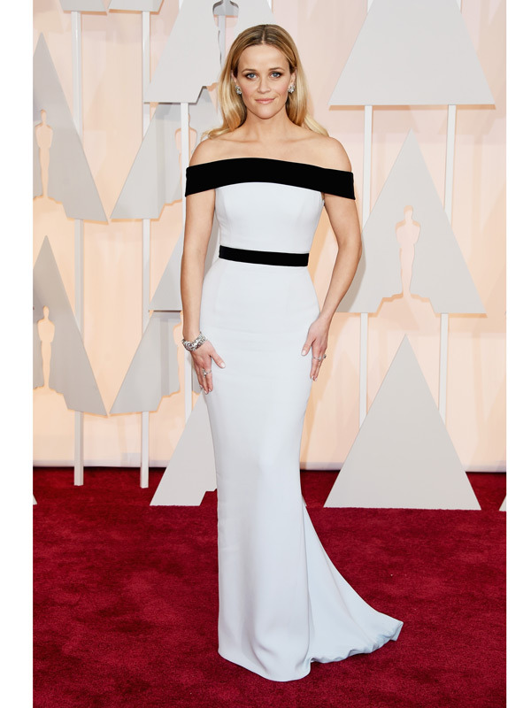 reese witherspoon oscars 2015 academy awards red carpet pictures
