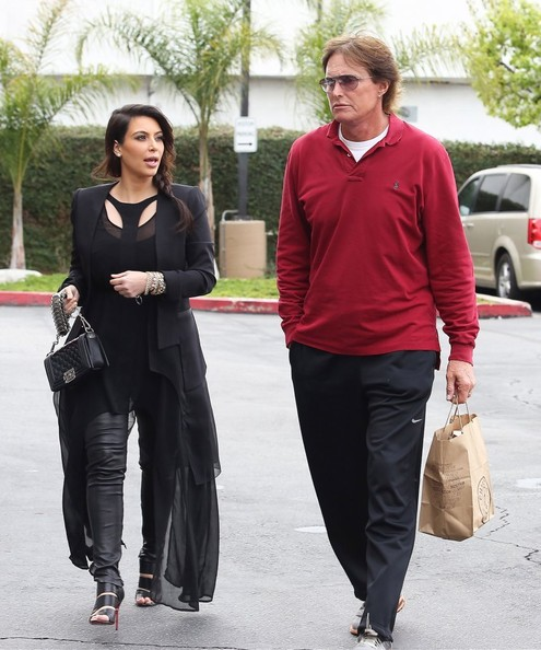 Kim Kardashian and Bruce Jenner