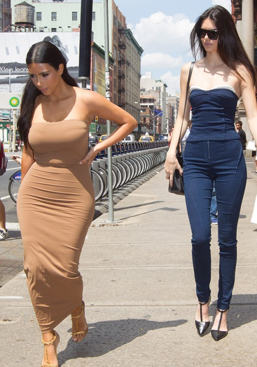 Kim Kardashian with Kendall Jenner Not Happy