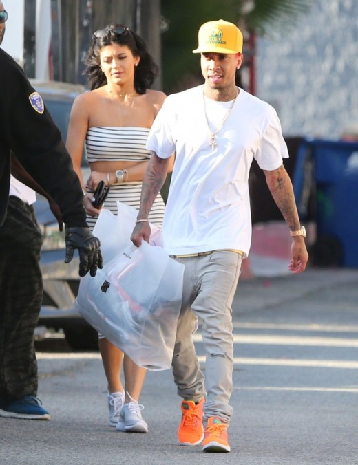 Kylie Jenner And Tyga Spotted Out Shopping In Hollywood