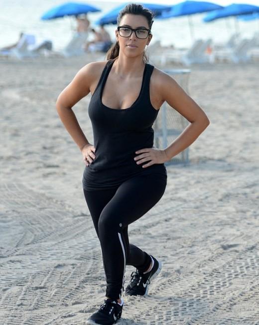 Kim Kardashian Workout Pose