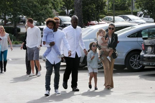 Kardashian Family Goes To Church Easter Sunday