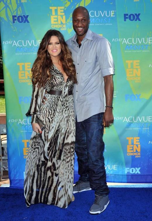Khloe Kardashian Lamar Odom Happy Together
