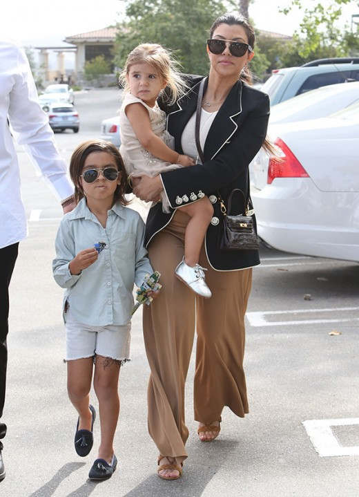 Kourtney Kardashian with Kids
