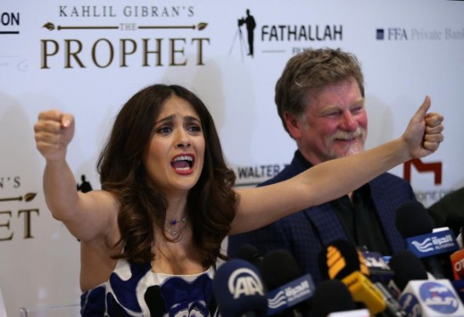 Salma Hayek along with Roger Allers