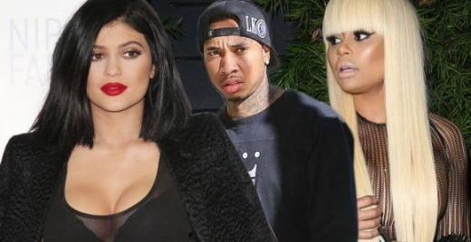 Kylie Jenner, Tyga and Blac Chyna