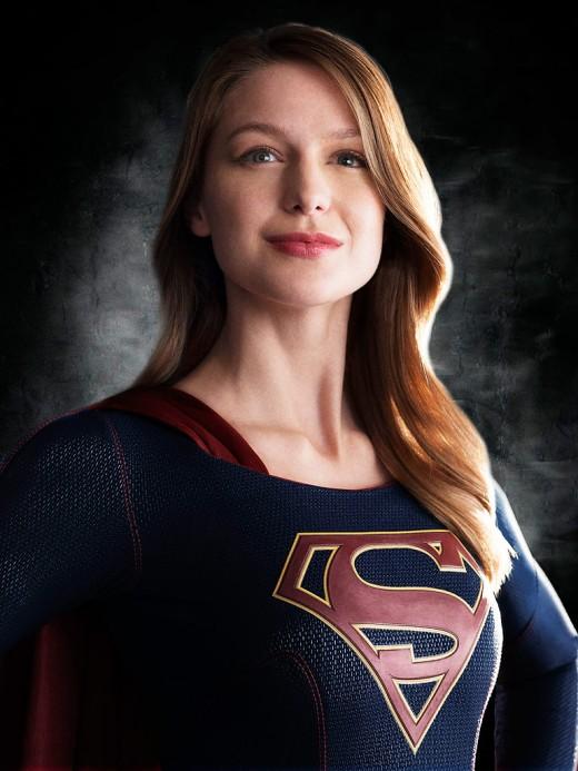 Melissa Benoist in Supergirl Costume