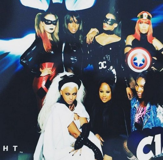 Beyonce, Kelly Rowland, Serena Williams and La La in Halloween Costume