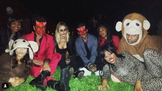 "The cast of ""Grandfathered"" in Halloween Costume"