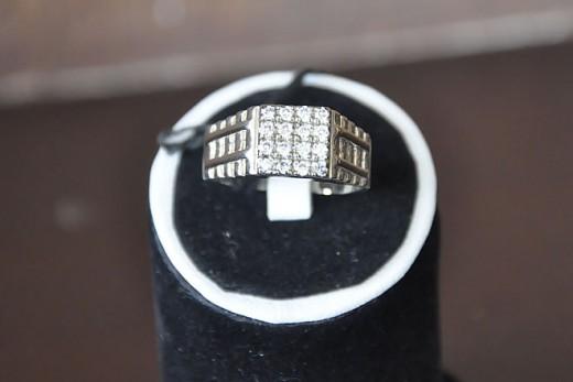 Sterling-Platinum-Silver-Zirconia-Ring