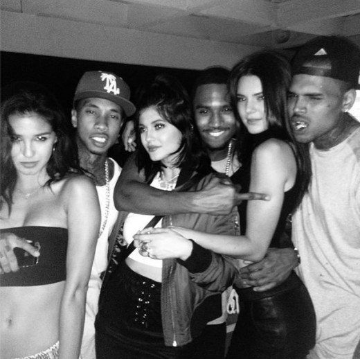 Kylie, Kendall, Chris, Tyga