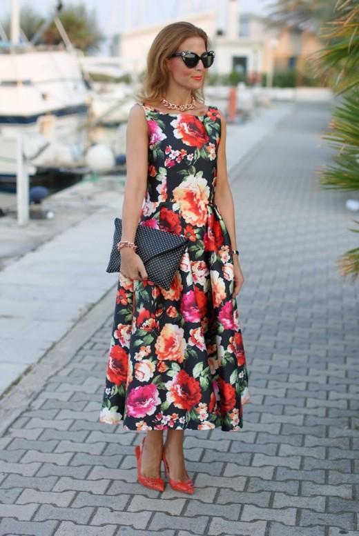 Retro Floral chic Dress