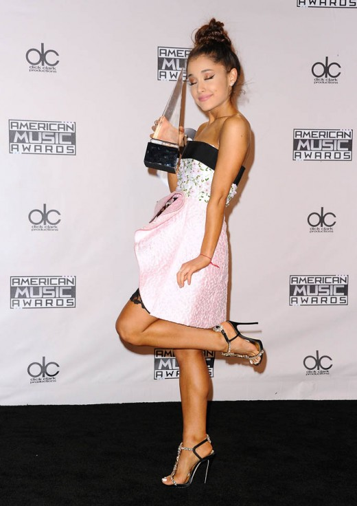 Ariana Grande Hot Mini Dress at AMAs
