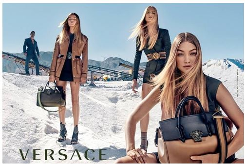 Gigi Hadid, Natasha Poly and Raquel Zimmermann Appeared in Versace's Spring 2016 Campaign