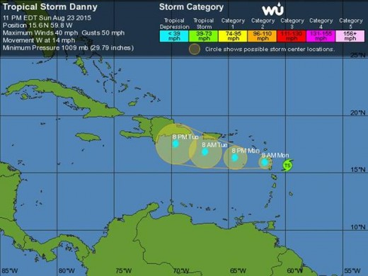 Tropical Storm Danny - 7