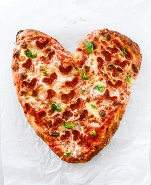 Valentine's Day Heart Pepperoni Pizza