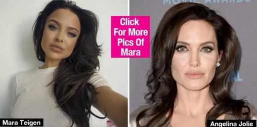 Angelina Jolie look alike Mara Teigen