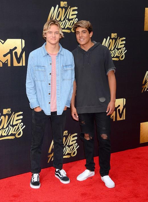 Josh Holz Daniel Lara MTV Movie Awards Red Carpet Photos