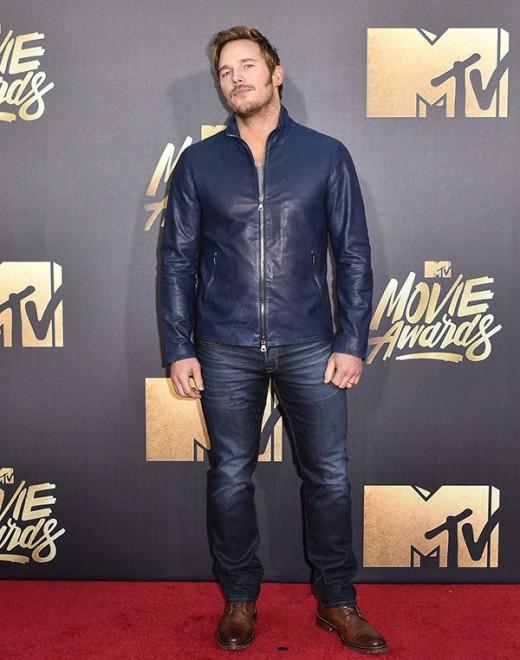 Chris Pratt MTV Movie Awards Red Carpet Photos