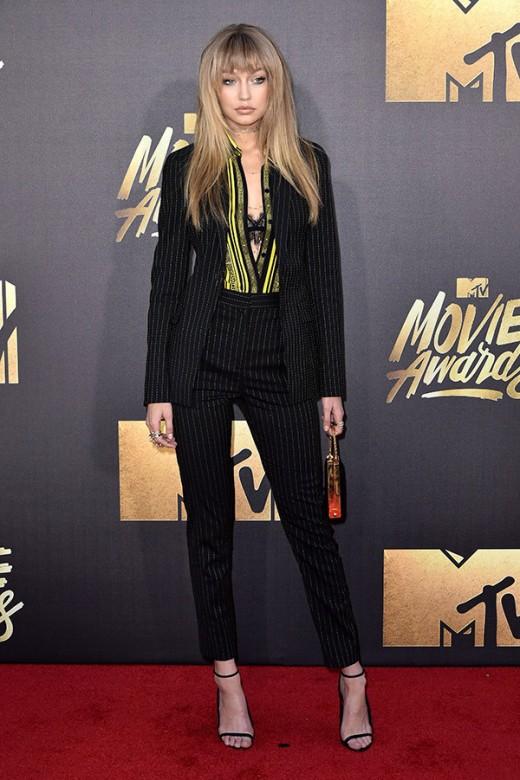 Gigi Hadid MTV Movie Awards Red Carpet Photos