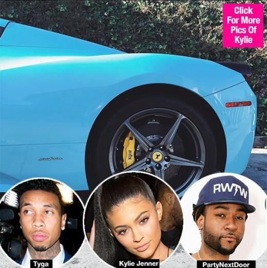Kylie Jenner Flaunts Blue Ferrari on Date is it Tyga's Gift?