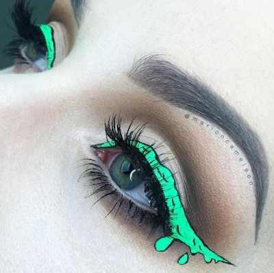 Mind blowing halloween makeup ideas try fashion style for Mind boggling ideas