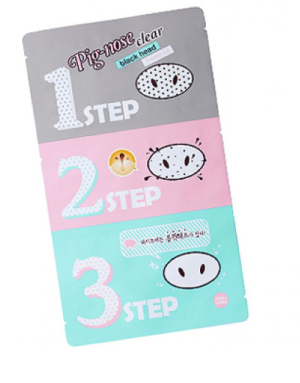 holika holika pig nose blackhead three step kit