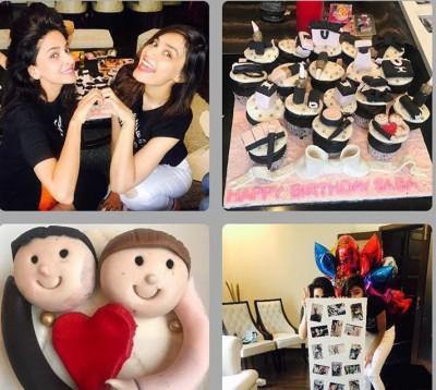 Arts and Entertainment Saba Qamar Celebrating her Birthday With Friends