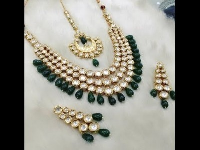 Beautiful kundan jewelry Fashion now in Trend