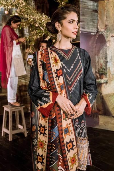 Khaddar Cross Stitched Design 2020