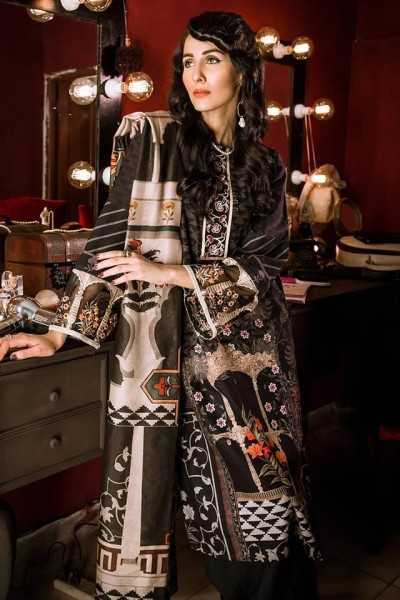 Khaddar Cross Stitched Dresses 2020